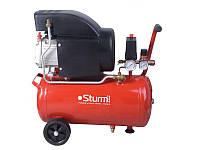 Воздушный компрессор Sturm 1600 Вт, 50 л AC93166