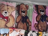 Детское плюшевое одеяло в кроватку