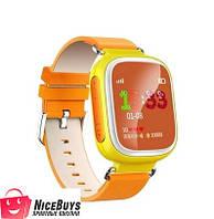 Детские GPS Часы Smart Baby Watch Q80 Оранжевые Гарантия