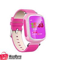 Детские GPS Часы Smart Baby Watch Q80 Розовые Гарантия