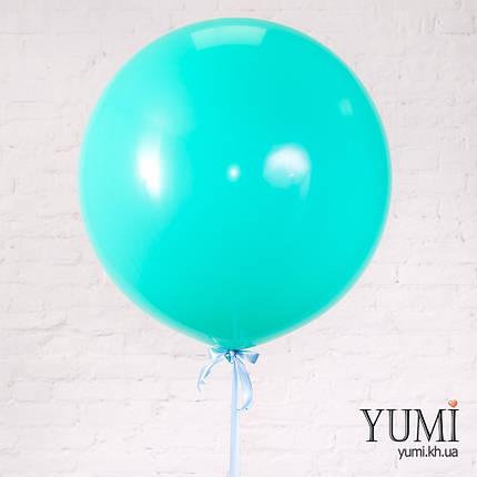 Нежный воздушный шар-гигант с гелием мятного цвета, фото 2