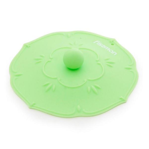 Крышка силиконовая Fissman 11,5 см Зеленый чай (Силикон)