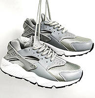 Женские кроссовки Nike Huarache (Найк Хуарачи) серые