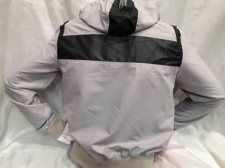 Ветровка мужская плащевая на хлопке Maraton серая, фото 2