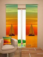 "Японские шторы-панели ""Прогулка на яхте"""