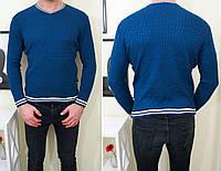 Мужской свитер фабричной вязки , синий ! , фото 1