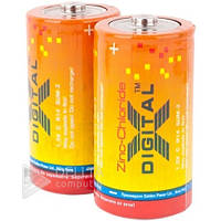 Батарейка X-DIGITAL R14, Carbon-Zinc, С, (Цена за 12 шт.) батарейка для радиоприемника X-DIGITAL R14