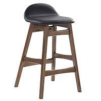 Барний стілець Bloom H86см  чорний , шкірозамінник