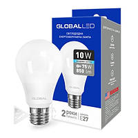 Светодиодная лампа Global E27- 10w, 4100k, 900Lm, шар, матовая, Лед лампаGlobal E27, Лампа LED, Лампочки, LED