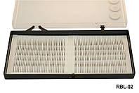 Ресницы для наращивания YRE RBL-02 на белой ленте (0,12-10мм), реснички для наращивания, наращивание ресничек, нарощенные ресницы
