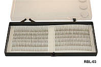 Ресницы для наращивания YRE RBL-03 на белой ленте (0,12-12мм), реснички для наращивания, наращивание ресничек, нарощенные ресницы