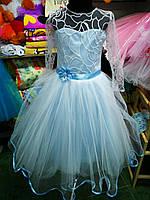 Голубое бальное платье для девочки до 6 - 10 лет