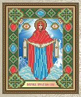 """""""Образ Пресвятой Богородицы. Покрова"""" икона алмазная техника"""