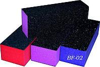 Баф для коррекции формя ногтей YRE BF-02, 3-х сторонний, цветной, цена за 10 шт, бафик для корекции ногтей, бафы для коррекции, коррекция ногтей бафом