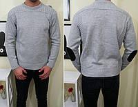 Мужской свитер зимний  фабричной вязки  серый! , фото 1