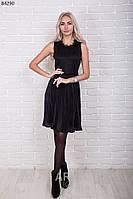 Платье женское плиссе с кружевной спинкой р.44-48 AR84290-2