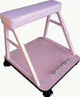 Подставка для ног YRE pdnp-01, не регулируемая, обивка из кожзама, Подставка для педикюра, Подставка под ногу, Педикюрная подставка