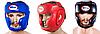 Шлем боксерский закрытый синий Flex Twins