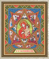 """""""Неопалимая Купина. Образ Пресвятой Богородицы"""" икона алмазная техника"""