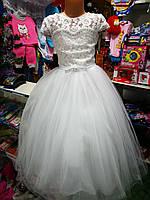 Белое бальное платье для девочки до 5 - 8 лет, фото 1