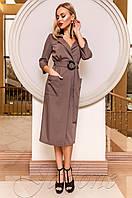 Классическое коричневое платье Кейси Jadone  42-48 размеры