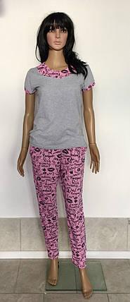 Женский домашний костюм футболка со штанами 44-54р, женские домашние костюмы оптом, фото 2