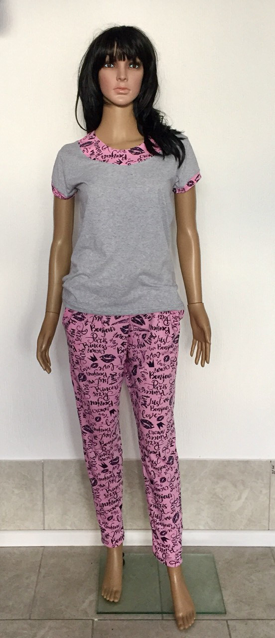 Женский домашний костюм футболка со штанами 44-54р, женские домашние костюмы оптом