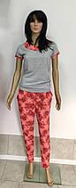 Женский домашний костюм футболка со штанами 44-54р, женские домашние костюмы оптом, фото 3