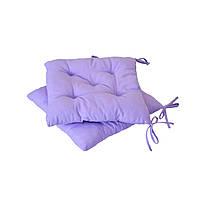Подушка на стул фиолетовая квадратная