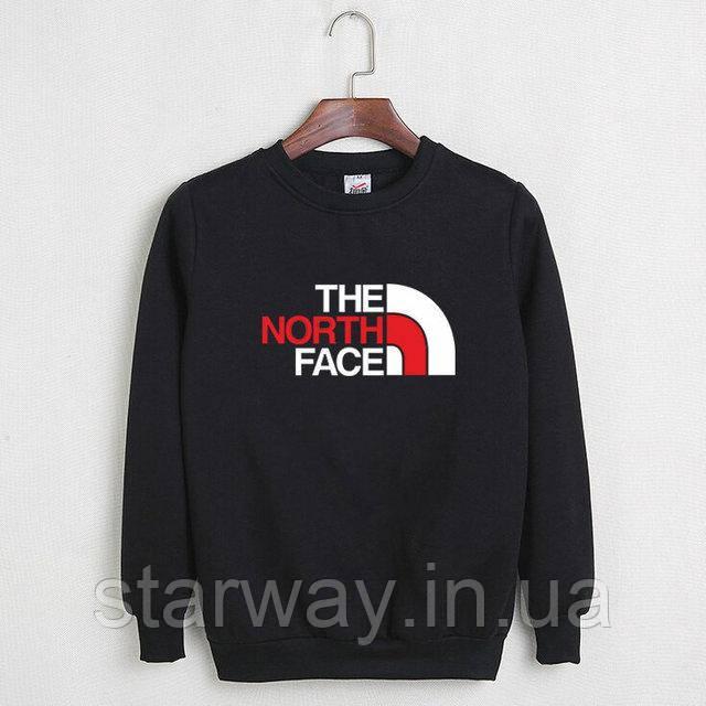 Свитшот чёрный The North Face logo | Кофта стильная