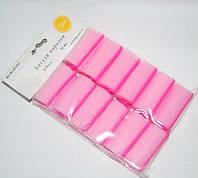 Бигуди  для создания локонов  delphinium BG-06-05 диаметр 32 мм., паролоновые, розовые, бигуди для волос