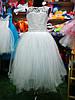 Белое бальное платье для девочки до 4 до 8 лет