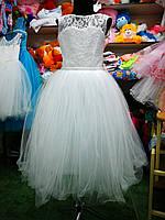 Белое бальное платье для девочки до 4 до 8 лет, фото 1