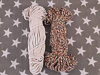 Веревка для декора хб цветная д.6 мм