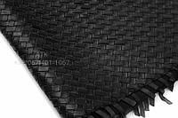 Натуральная плетеная кожа черная, фото 1