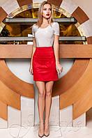 Женская красная юбка Ирис Jadone Fashion 42-48 размеры
