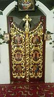 Царские врата резные из дерева Липа под покраску, фото 1