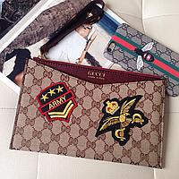 Клатч женский клатч-конверт клатч в виде конверта GUCCI кожаный клатч гуччи женская сумка GUCCI