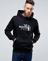Худи чёрная принт The North Face | Толстовка стильная