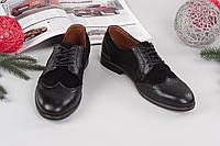 Классические мужские туфли из натуральной кожи и замша