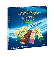 Шоколадные конфеты  ассорти 200гр Maitre Truffout grazioso selection Classic style 200 гр, фото 1