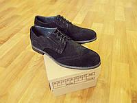 Мужские замшевые туфли броги