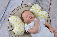 """Детская подушка для новорожденных """"Butterfly"""", бананы"""
