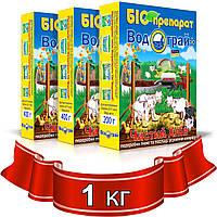 Биопрепарат для глубокой подстилки, средство для переработки навоза Водограй Чистый Хлев 1 кг.