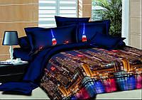 Комплект постельного белья полуторный, ранфорс 100% хлопок. Постільна білизна. (арт.7401)