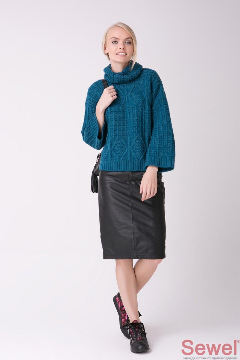 теплый женский вязаный свитер под горло продажа цена в киеве