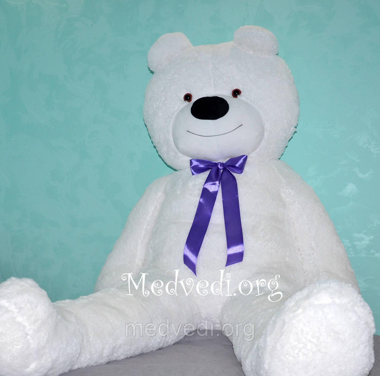 Белый большой плюшевый медведь 160 см