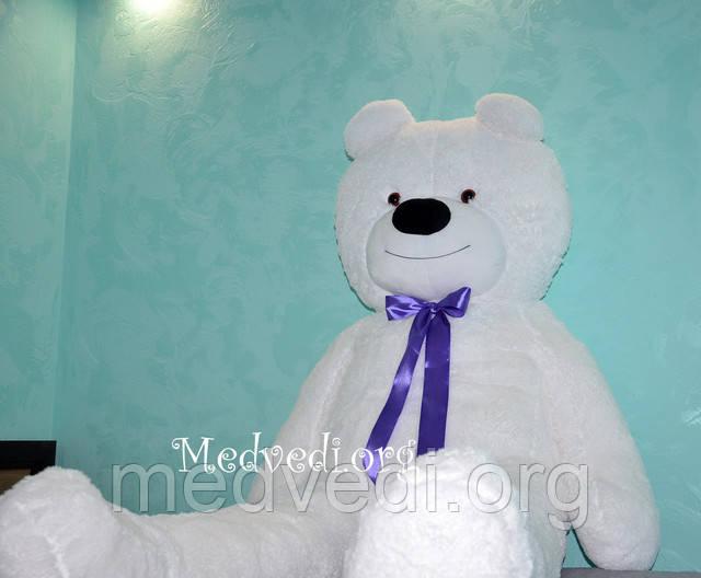 Большой белый плюшевый медведь 160 см