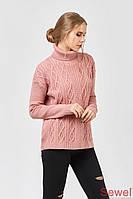 Модный женский вязаный свитер под горло , фото 1