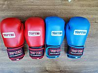 Боксерские перчатки TopTen, кожа, модель AIBA.